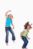Portret dziewczyn skakać Obrazy Royalty Free