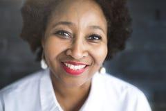 Portret dziewczyna afrykanin Obraz Royalty Free