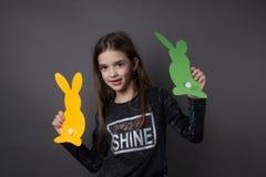 Portret dziewczyna Easter obrazy stock