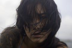Portret dziewczyna oceanem Obraz Royalty Free
