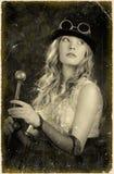 Portret dziewczyna. Przerobowy retro. Obrazy Stock