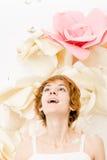 Portret dziewczyna w jaskrawych kolorach obrazy royalty free