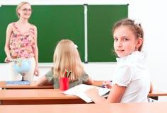 Portret dziewczyna w klasie Zdjęcie Stock