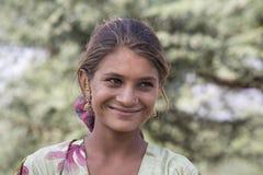 Portret dziewczyna w Pushkar, India Obrazy Stock