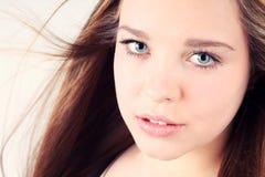 Portret dziewczyna z czystą skórą Zdjęcia Royalty Free