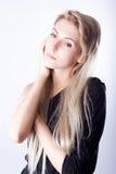 Portret dziewczyna z thoughful spojrzeniem Fotografia Royalty Free