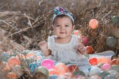 Portret dziewczynka w naturze fotografia royalty free