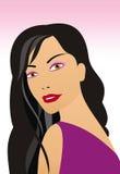 portret dziewczyny Ilustracja Wektor