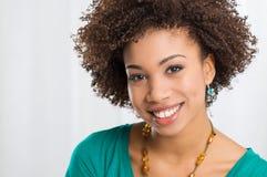 Portret Młoda Szczęśliwa kobieta Fotografia Royalty Free