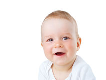 Portret dziewięć miesięcy stary dziecko Zdjęcia Royalty Free
