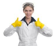 Portret żeński laborancki asystent zdjęcie royalty free