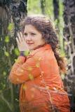 Portret in een park Stock Foto's