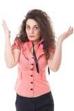 Portret ekspresyjna młoda kobieta obrazy stock