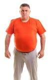 Portret ekspresyjny gruby mężczyzna fotografia royalty free