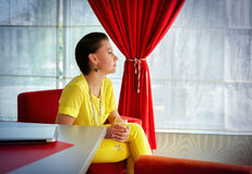 Portret elegancka biznesowa kobieta Zdjęcie Stock