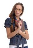 Portret elegancka młoda studencka kobieta obraz stock