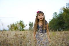 Portret emocjonalna czteroletnia dziewczyna Fotografia Stock