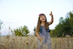 Portret emocjonalna czteroletnia dziewczyna Zdjęcie Royalty Free