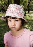 Portret emocjonalna dziewczyna Obrazy Royalty Free