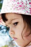 Portret emocjonalna dziewczyna Zdjęcia Stock