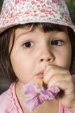 Portret emocjonalna dziewczyna Obrazy Stock