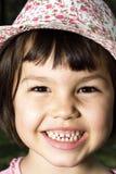 Portret emocjonalna dziewczyna Fotografia Royalty Free
