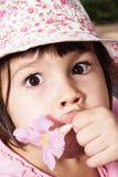 Portret emocjonalna dziewczyna Obraz Stock