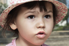 Portret emocjonalna dziewczyna Zdjęcie Royalty Free