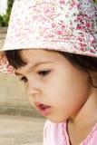 Portret emocjonalna dziewczyna Zdjęcie Stock
