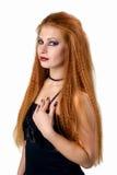 portret emocjonalny Młoda rudzielec kobieta demonstruje różnorodne emocje Obraz Stock