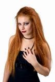 portret emocjonalny Młoda rudzielec kobieta demonstruje różnorodne emocje Fotografia Royalty Free