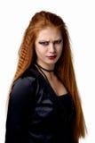 portret emocjonalny Młoda rudzielec kobieta demonstruje różnorodne emocje Zdjęcie Stock