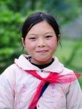 Portret etniczna dziewczyna przy wsią w Dalat, Wietnam Zdjęcie Stock