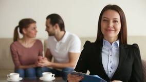 Portret fachowy związku terapeuta zdjęcie wideo