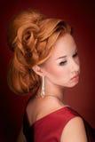 Portret of a fashion girl Stock Photos