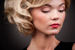 Portret of a fashion girl Royalty Free Stock Photo