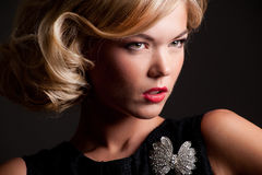 Portret of a fashion girl Royalty Free Stock Photography