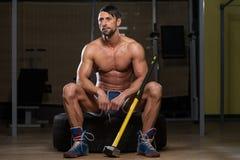 Portret Fizycznie Dysponowany mężczyzna Obraz Stock