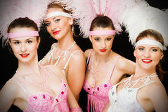 Portret of four latino dancers Stock Image