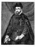 Portret Francisco Pizarro hiszpański konkwistador ilustracja wektor