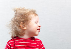 Portret funny baby toddler blonde boy Royalty Free Stock Images