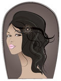Portret garbnikująca dziewczyna royalty ilustracja