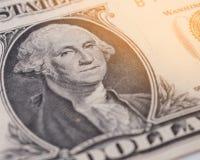 Portret George Washington na 1 dolarowym rachunku Obraz Royalty Free