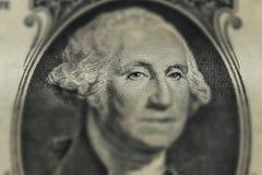 Portret George Washington na 1 dolarowym rachunku Zdjęcie Stock