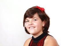 Portret girlie op witte achtergrond Stock Afbeelding
