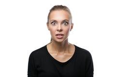 Portret gniewna kobieta na białym tle Fotografia Royalty Free