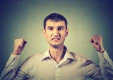Portret gniewny sfrustowany mężczyzna obraz royalty free