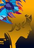 portret graficzny Zdjęcia Royalty Free