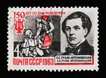 Portret Gulak-Artemovsky - Ukraiński kompozytor, 150th narodziny rocznica około 1963, Obraz Royalty Free