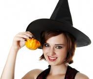 Portret Halloween czarownica Zdjęcia Stock